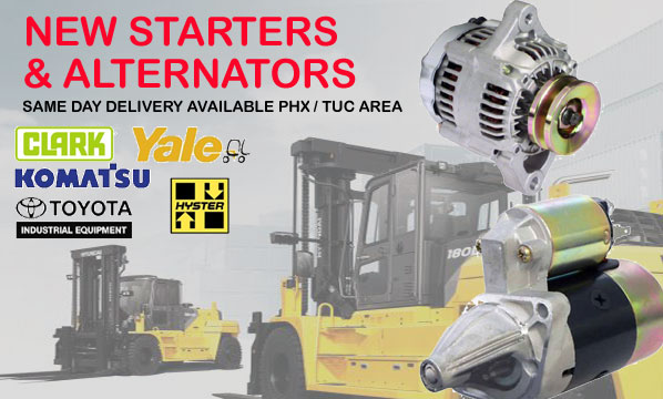 Forklift Alternators and Starters, Build in the Usa